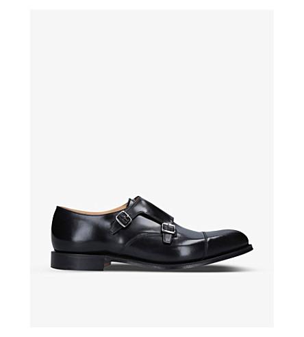 CHURCH 底特律双皮革和尚鞋履 (黑色