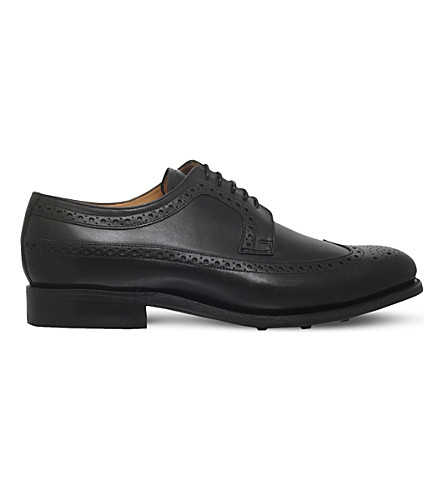 BARKER Bath leather derby shoes (Black