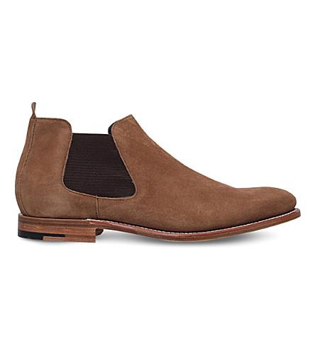 BARKER Lester suede Chelsea boots