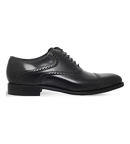 BARKER Wilton leather Oxford shoes (Black