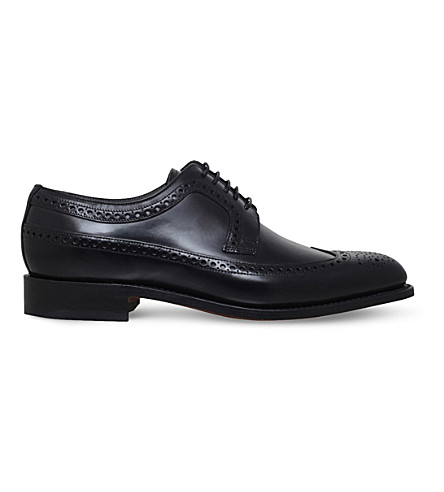 BARKER Woodbridge leather derby shoes (Black