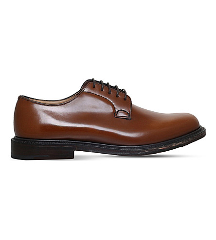 CHURCH Shannon leather derby shoes (Tan