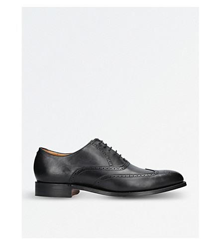 BARKER Denton leather Oxford brogues (Black