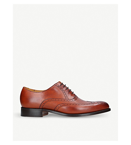 BARKER Denton leather Oxford brogues (Tan