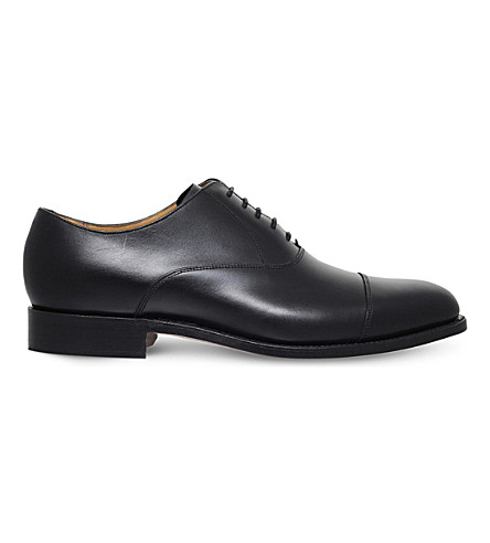 BARKER Duxford leather Oxford shoes (Black