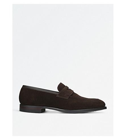 CROCKETT & JONES Sydney suede loafers (Dark+brown