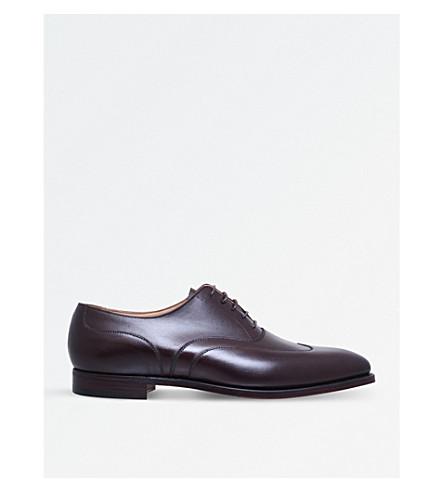 CROCKETT & JONES Tunbridge leather Oxford shoes (Dark brown