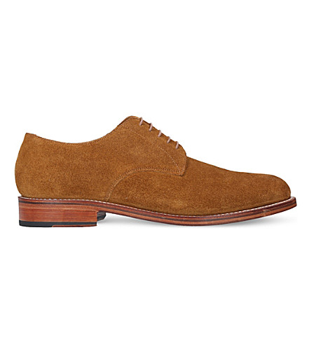 GRENSON Curtis suede derby shoes (Tan