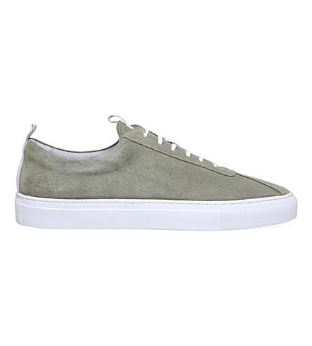 GRENSON Sneaker 1 suede trainers (Khaki