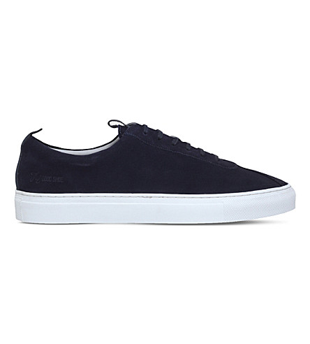 GRENSON Sneaker 1 suede trainers (Navy