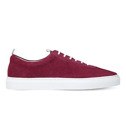 GRENSON Sneaker 1 suede trainers (Purple
