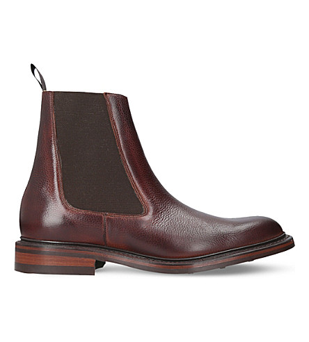 BARKER Ashby leather Chelsea boots (Mid+brown