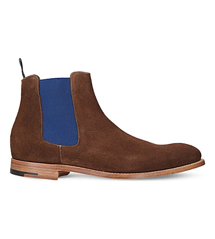 BARKER Hopper suede Chelsea boots (Brown/oth