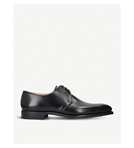 amp; Negro JONES amp; cuero Zapatos de Highbury derby CROCKETT d7ZPqd