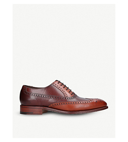 BARKER Fore leather Oxford brogues (Tan