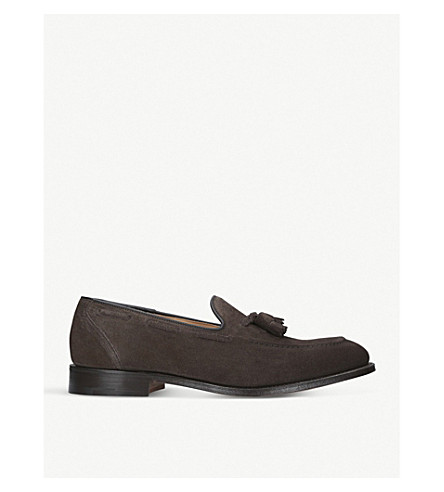 CHURCH Kingsley 2 tassel suede loafers (Brown