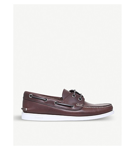 CHURCH Marske leather boat shoes (Mid+brown