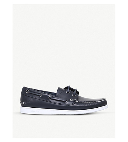 CHURCH Marske leather boat shoes (Navy