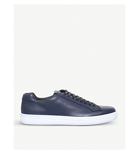 CHURCH Mirfield leather trainers (Navy