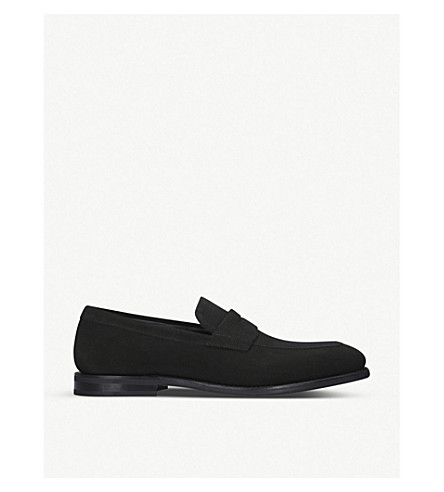 CHURCH Parham suede penny loafer (Black