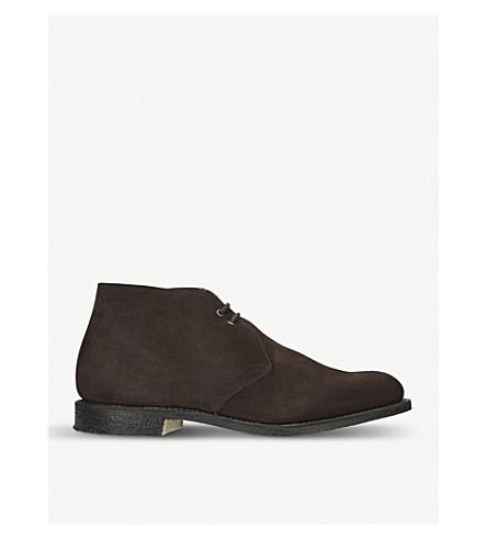 CHURCH Sahara suede chukka boots (Dark+brown