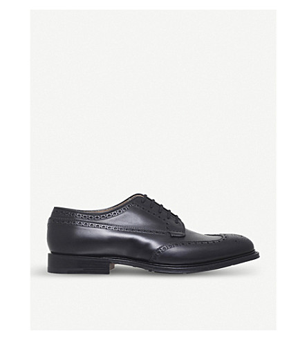CHURCH Thickwood leather derby shoes (Black