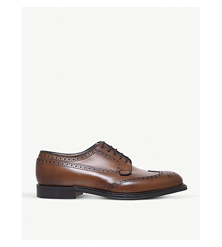 CHURCH Thickwood leather derby shoes (Tan