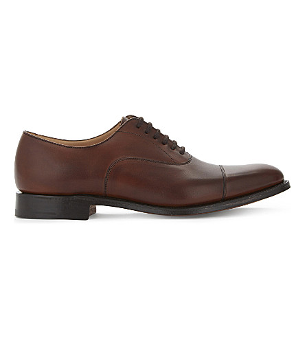 CHURCH Dubai leather Oxford shoes (Mid+brown