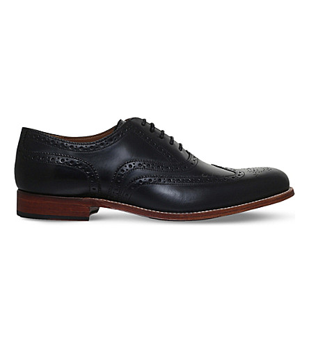 GRENSON Dylan leather Oxford brogues