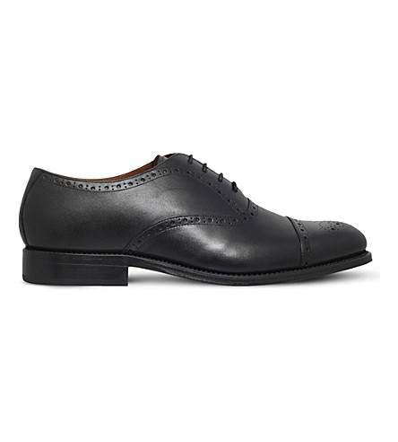 GRENSON Matthew leather oxford brogues (Black