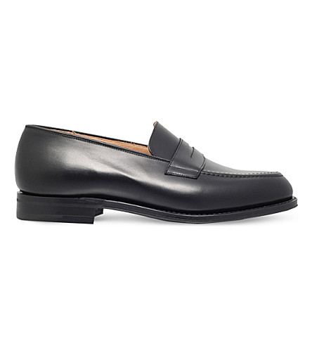 CHURCH Netton leather penny loafers (Black