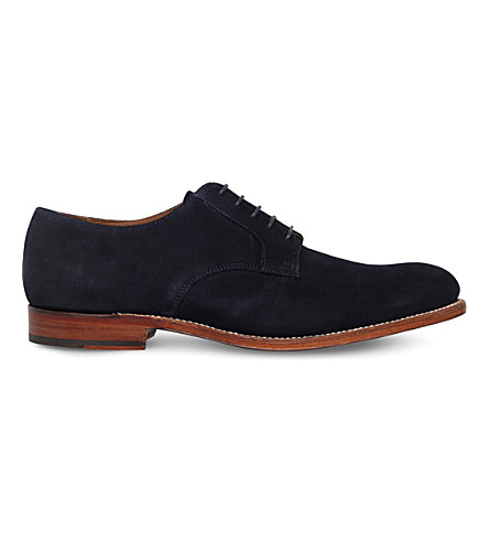 GRENSON Liam suede derby shoes (Navy