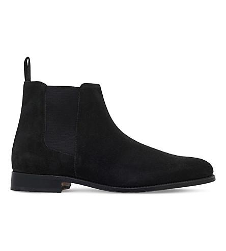 GRENSON Declan suede chelsea boots (Black