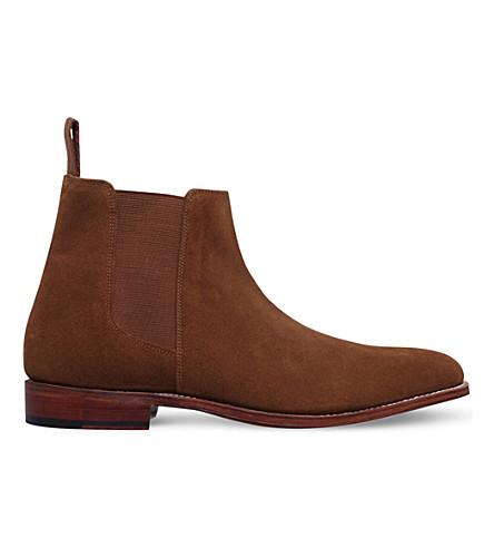 GRENSON Declan suede chelsea boots (Tan
