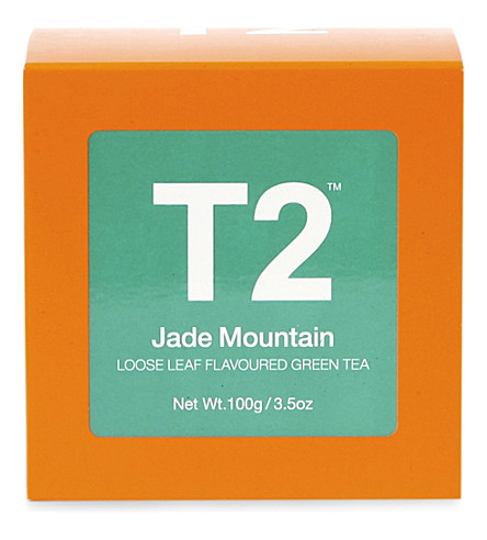 T2 TEA Jade mountain loose leaf gift cube 100g