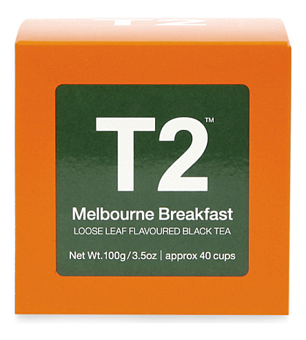T2 TEA Melbourne breakfast tea loose leaf gift cube 100g