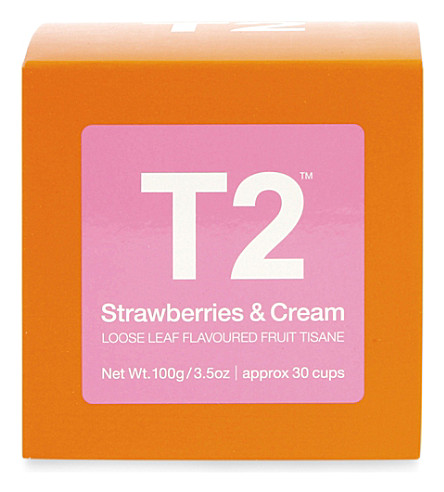 T2 TEA Strawberries & cream loose leaf tisane 100g