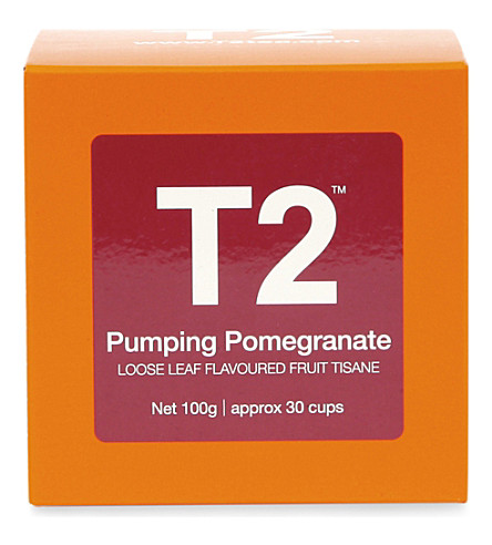 T2 TEA Pumping Pomegranate loose-leaf gift cube