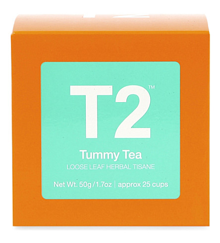 T2 TEA Tummy Tea loose-leaf gift cube 100g