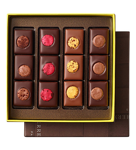 PIERRE HERME Chocolats au macaron assortment box of 12