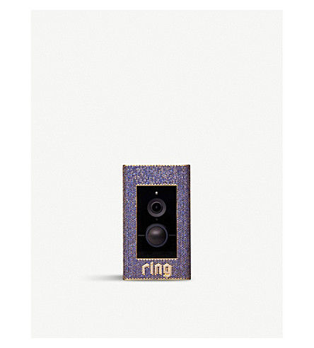 RING Elite Crown Jewel 18ct yellow gold, sapphire and diamond video doorbell