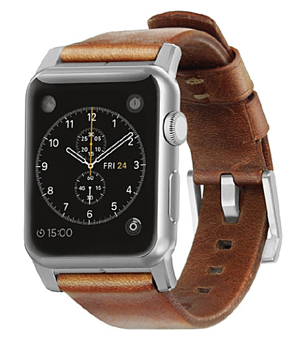 NOMAD Horween leather Apple Watch strap (Silver