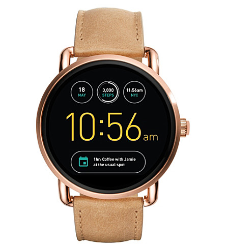 FOSSIL Fossil Q Wander Brown Leather Touchscreen Smartwatch