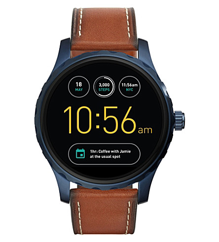 FOSSIL Fossil Q Marshal Brown Leather Touchscreen Smartwatch