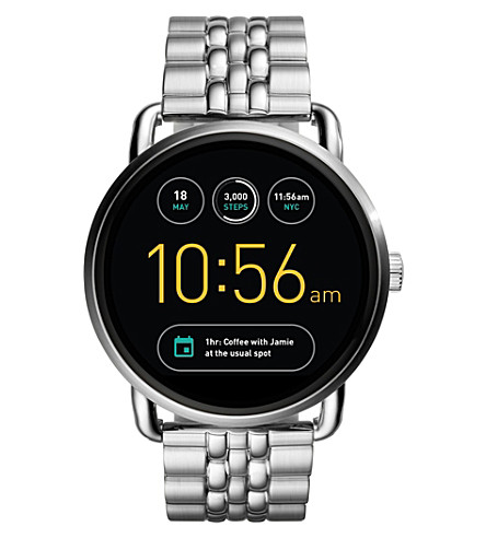 FOSSIL Fossil Q Wander Silver Stainless Steel Touchscreen Smartwatch