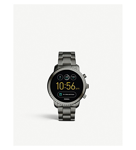 FOSSIL FTW4001 Sport Q Explorist stainless steel smartwatch