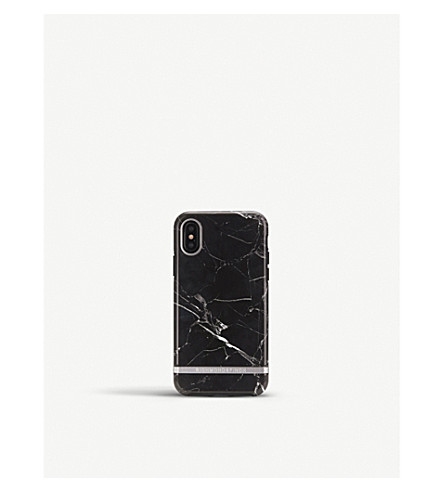 RICHMOND AND FINCH iPhone X black marble case