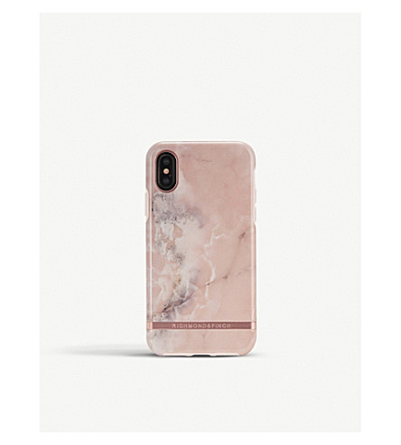RICHMOND AND FINCH iPhone pink marble case