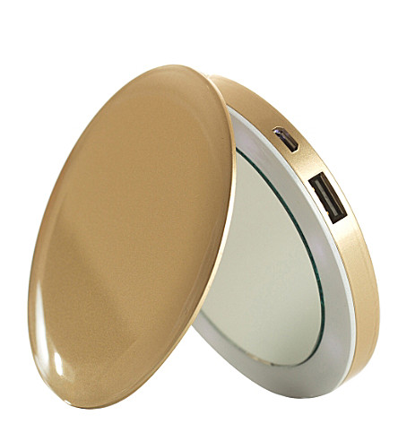 PEARL Compact mirror and battery pack (Gold