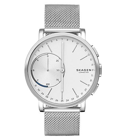 SKAGEN Skagen Connected Hagen Silver Mesh Stainless Steel Hybrid Smartwatch (Silver